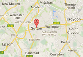map showing the sutton area